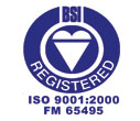 2013 BSI Registered ISO 9001:2000 FM 65495
